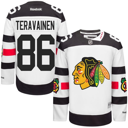 Youth Reebok Chicago Blackhawks #86 Teuvo Teravainen Premier White 2016 Stadium Series NHL Jersey